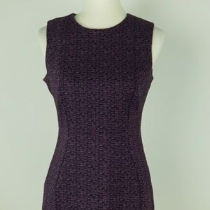 Calvin Klein Purple and Black Stretch Sheath Dress